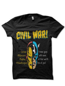 Civil War Head Black Tee