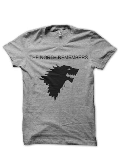 North Remember Grey T Shirt