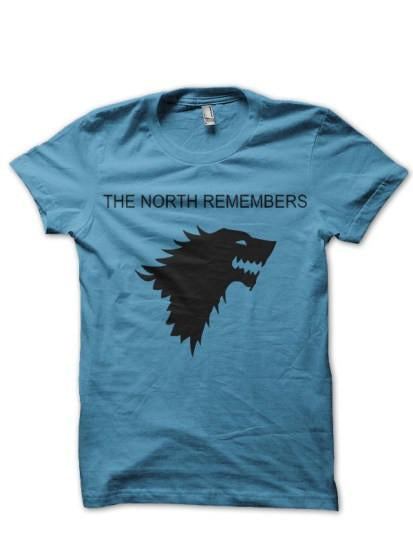 North Remember Light Blue T Shirt