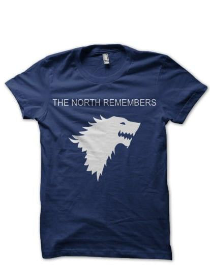 North Remember Navy Blue T Shirt