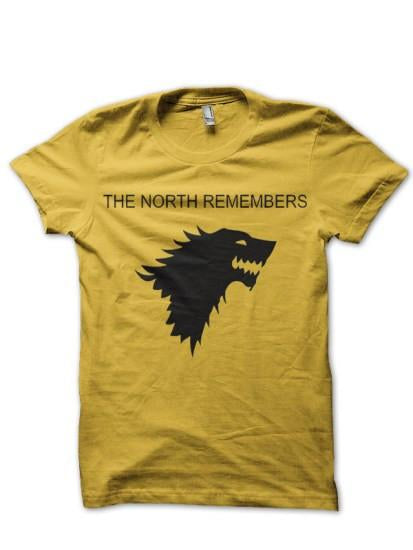 North Remember Yellow T Shirt