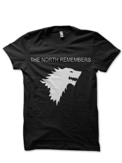 North Remembers Black T Shirt