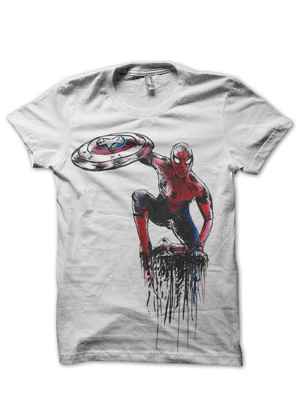 Spiderman White T Shirt