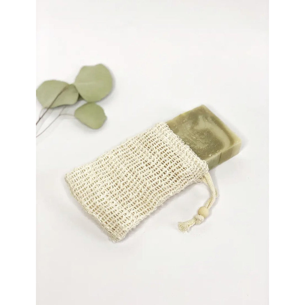 Sisal Soap Bag with Drawstring