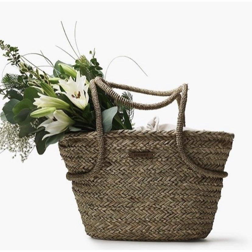 Sea Grass and Linen Market Totes