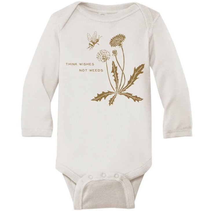 Think Wishes Baby Cotton Bodysuit