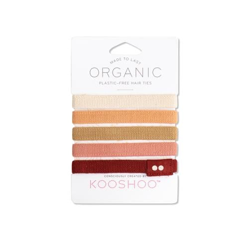 KooShoo Plastic Free Hair Ties in Ginger - Ninth and Pine