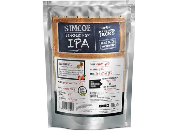 SIMCOE SINGLE HOP IPA POUCH CRAFT SERIES, 2,5 KG