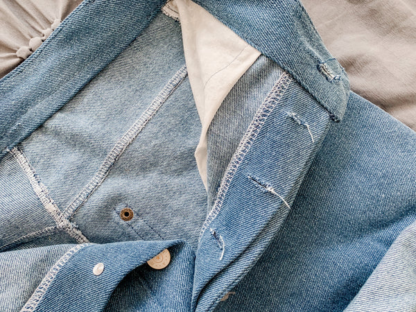 Button Fly jean denim shorts sewing tip