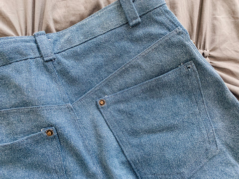 DIY jeans how to sew denim shorts
