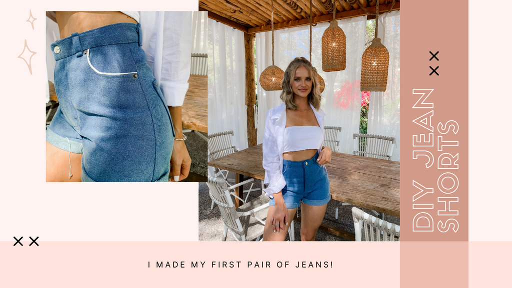 I made my first pair of jeans. DIY sewing pattern denim jeans