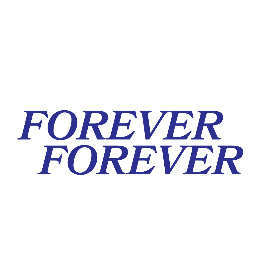 Double Forever Blue Glitter Die Cut