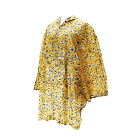 Eco Chic Mustard 1950's Flower Poncho