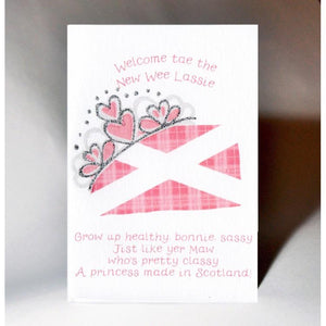 Scottish Card Baby Girl Made In Scotland