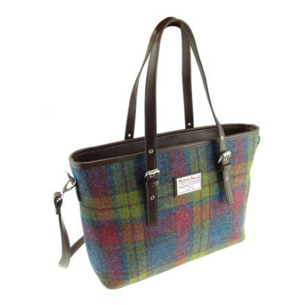 Multi Colour Check Harris Tweed Spey Bag