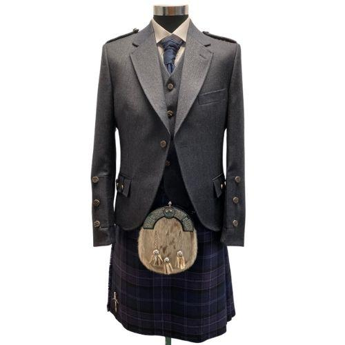 Midnight Blue Crail Kilt Outfit for Hire