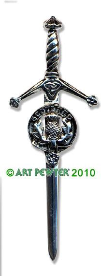 Map of Scotland Kilt Pin