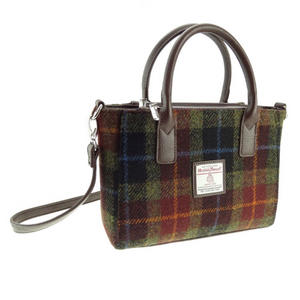 Rust Check Harris Tweed Brora Bag