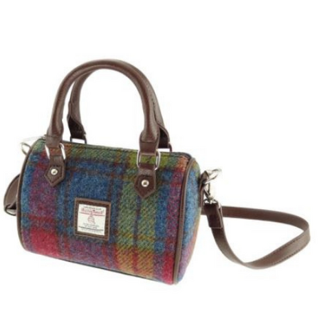 Multi Colour Check Harris Tweed Mini Kilbride Bowling Bag
