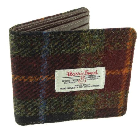 Rust Check Harris Tweed Hip Flask 6oz