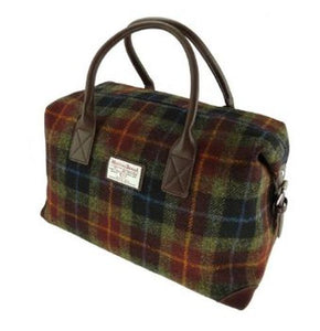 Rust Check Harris Tweed Overnight Weekend Esk Bag