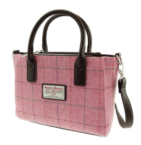 Pink Harris Tweed Brora Bag