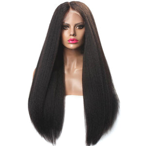 Fanny | High Density 13*4 GLUELESS Swiss/ HD Lace Front Wig 100% Human Hair Kinky Straight