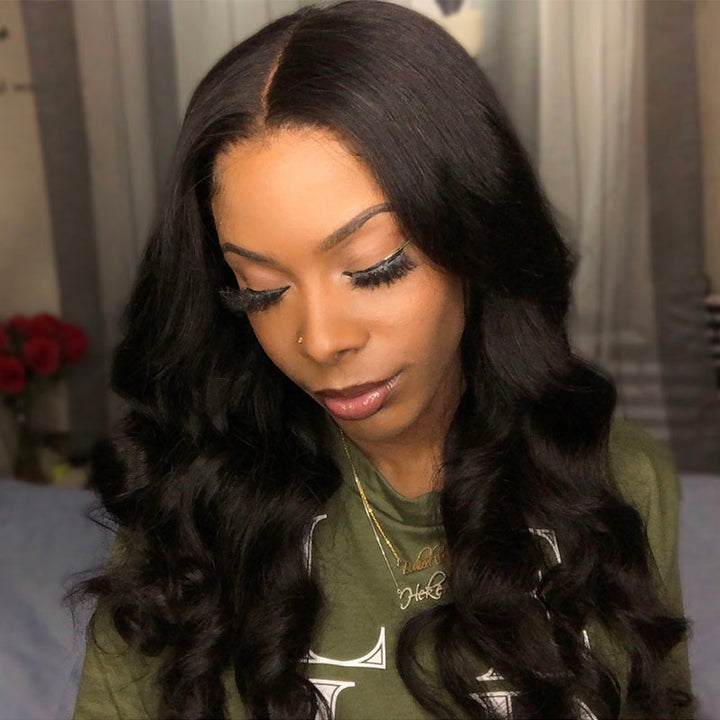 Alma | Skin Melt HD Lace Wig Undetectable Swiss Lace Pre Plucked Natural Hairline Glueless 13*6 Lace Front Wig Loose Deep