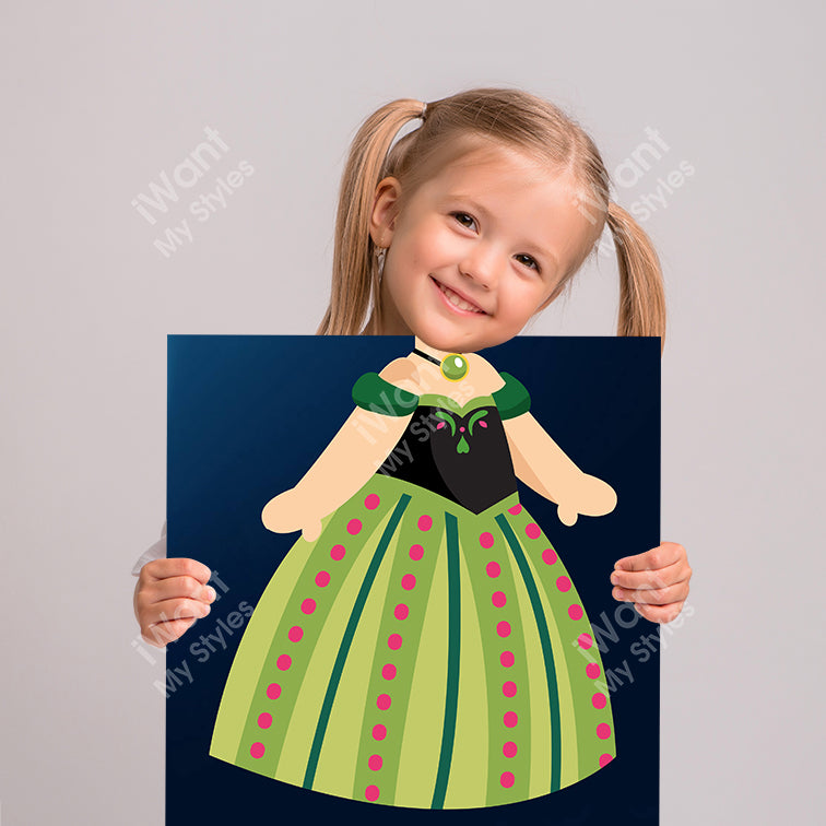 Disney Frozen Princess Anna's Dress Canvas, Party and Birthday Favors