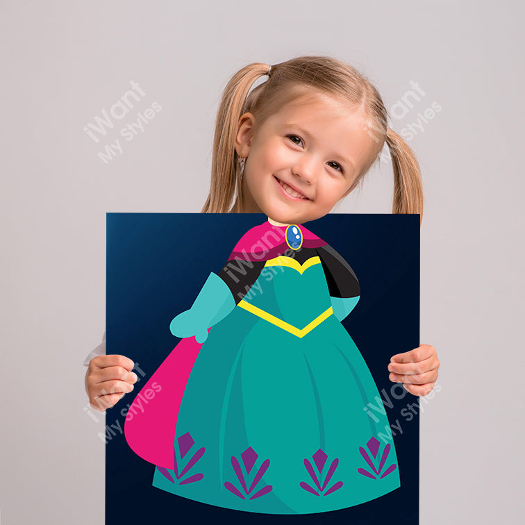 Disney Frozen Princess Elsa's Dress Canvas, Party and Birthday Favors