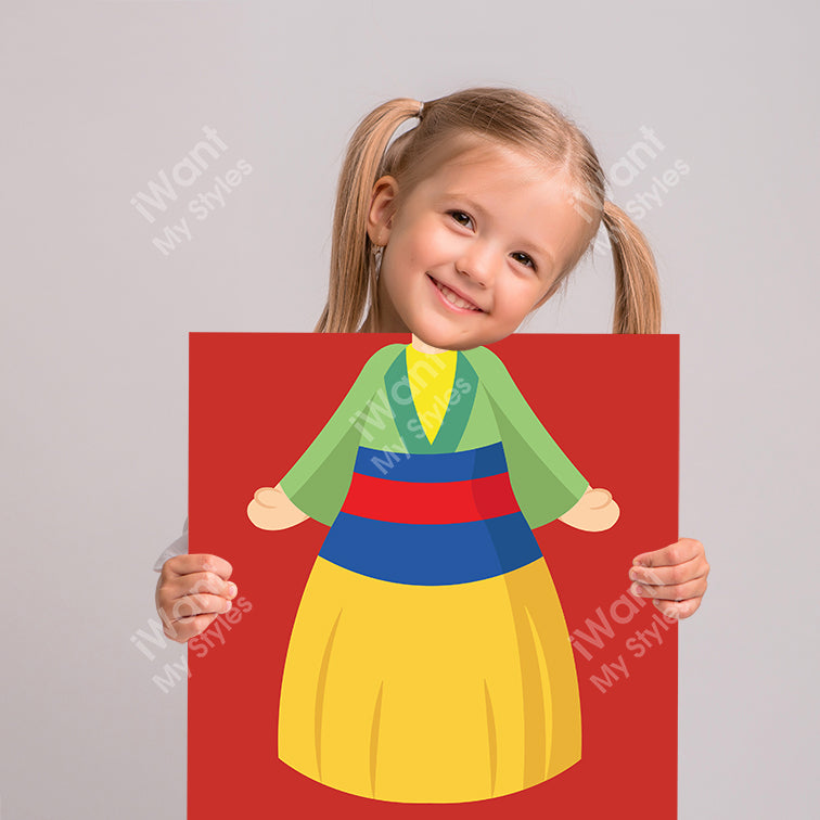 Disney Mulan Princess Mulan's Dress Canvas, Party and Birthday Favors