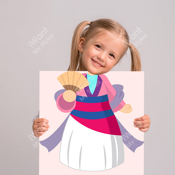 Disney Mulan Princess Mulan's Dress Canvas II, Party and Birthday Favors