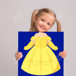 Disney Beauty and the Beast Princess Belle's Dress Canvas, Party and Birthday Favors