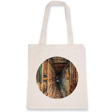 Load image into Gallery viewer, Old Quarter Alley Tote Bag - 100% Organic Cotton