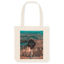 Load image into Gallery viewer, VINTAGE 2020 HANOI View Over Long Bien Bridge Canvas Tote Bag - 80% Organic Cotton, 20% Recycled Plastic