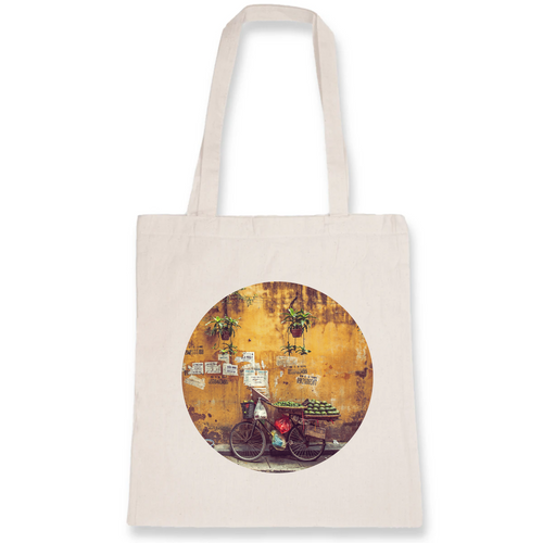 Citrus Bicycle in Hanoi Tote Bag - 100% Organic Cotton