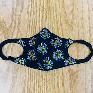 Flowered Crystal Face Mask