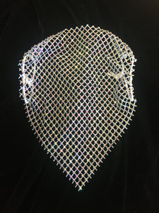 Long Crystal Face Cover