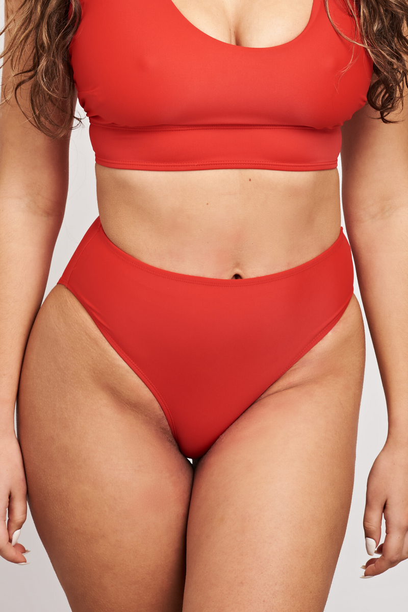 Red Ashley Bikini Bottoms