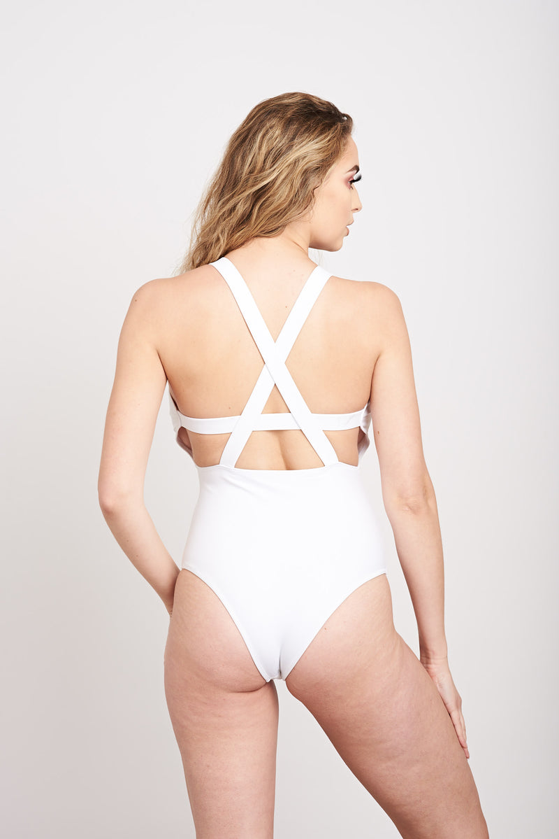White fuller bust swimsuit