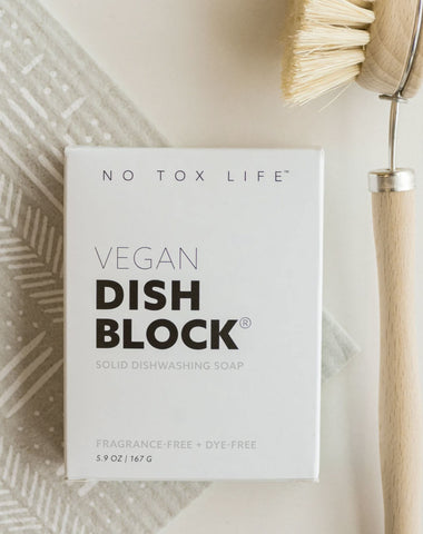 no tox life vegan dish block zero waste
