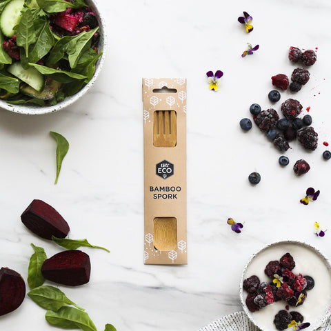 ever eco spork bamboo cutlery great for travel and work