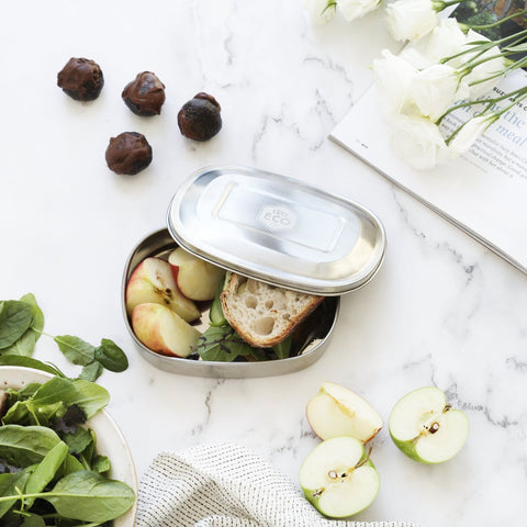 ever eco bento stainless steel lunchbox single compartment small