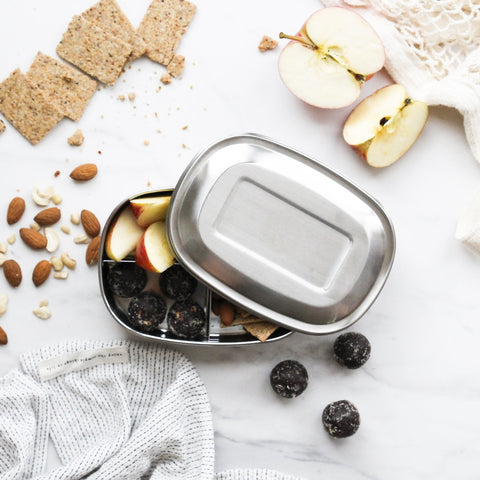ever eco 3 compartment bento stainless steel lunchbox