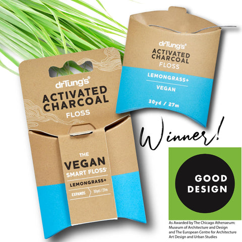 drTungs activated charcoal dental floss vegan plastic free