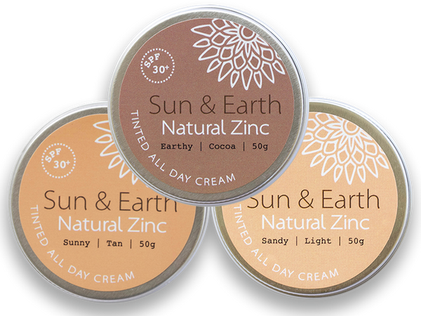 Sun & Earth Natural Zinc Tinted All Day Cream - Goods that Give