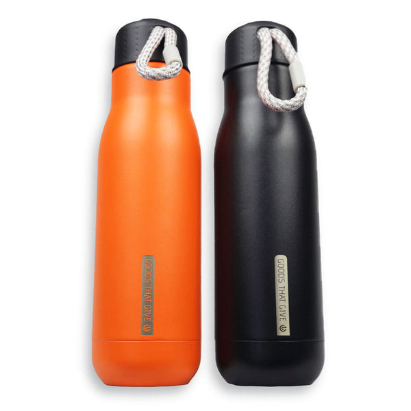 Insulated water bottle (double walled, 500mL) - Goods that Give