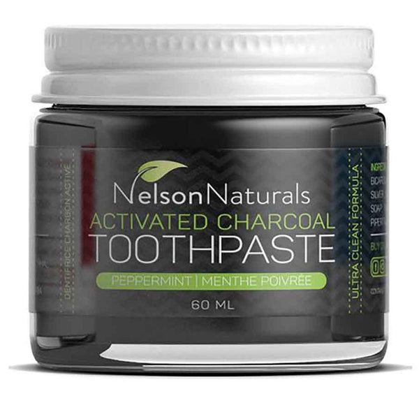 NELSON NATURALS Zero Waste Activated Charcoal Whitening Toothpaste 60ml - Goods that Give