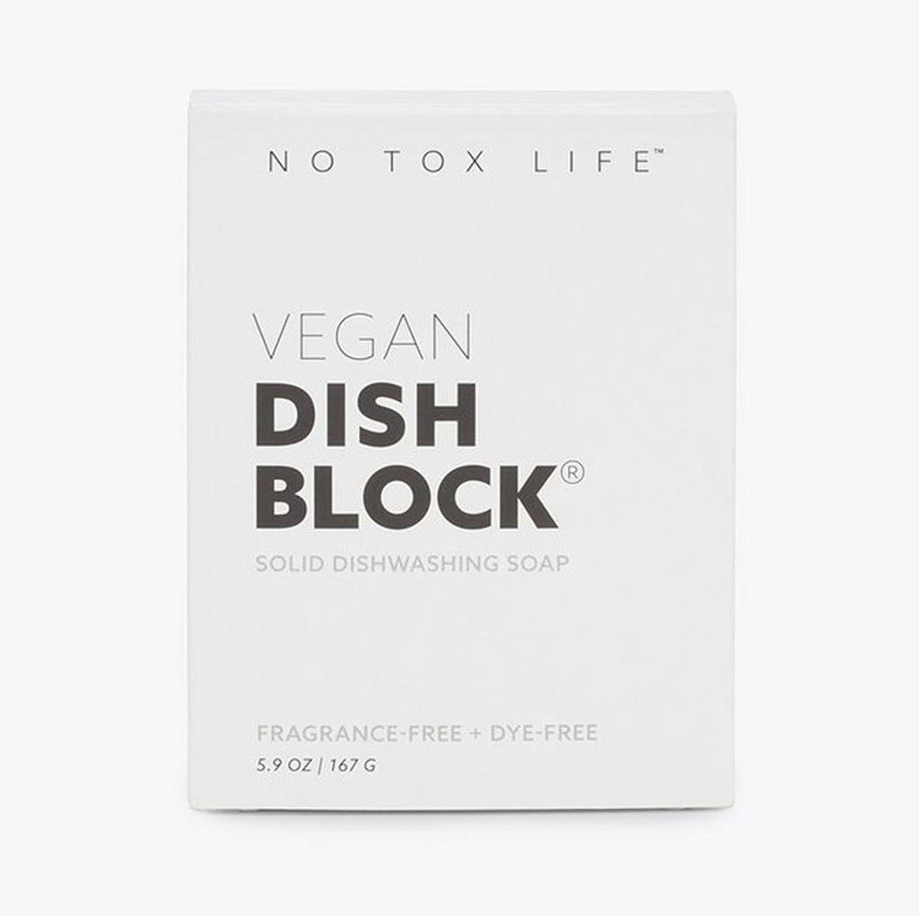 No Tox Life Dish Block® Zero Waste Dish Washing Bar - Free of Dyes and Fragrance