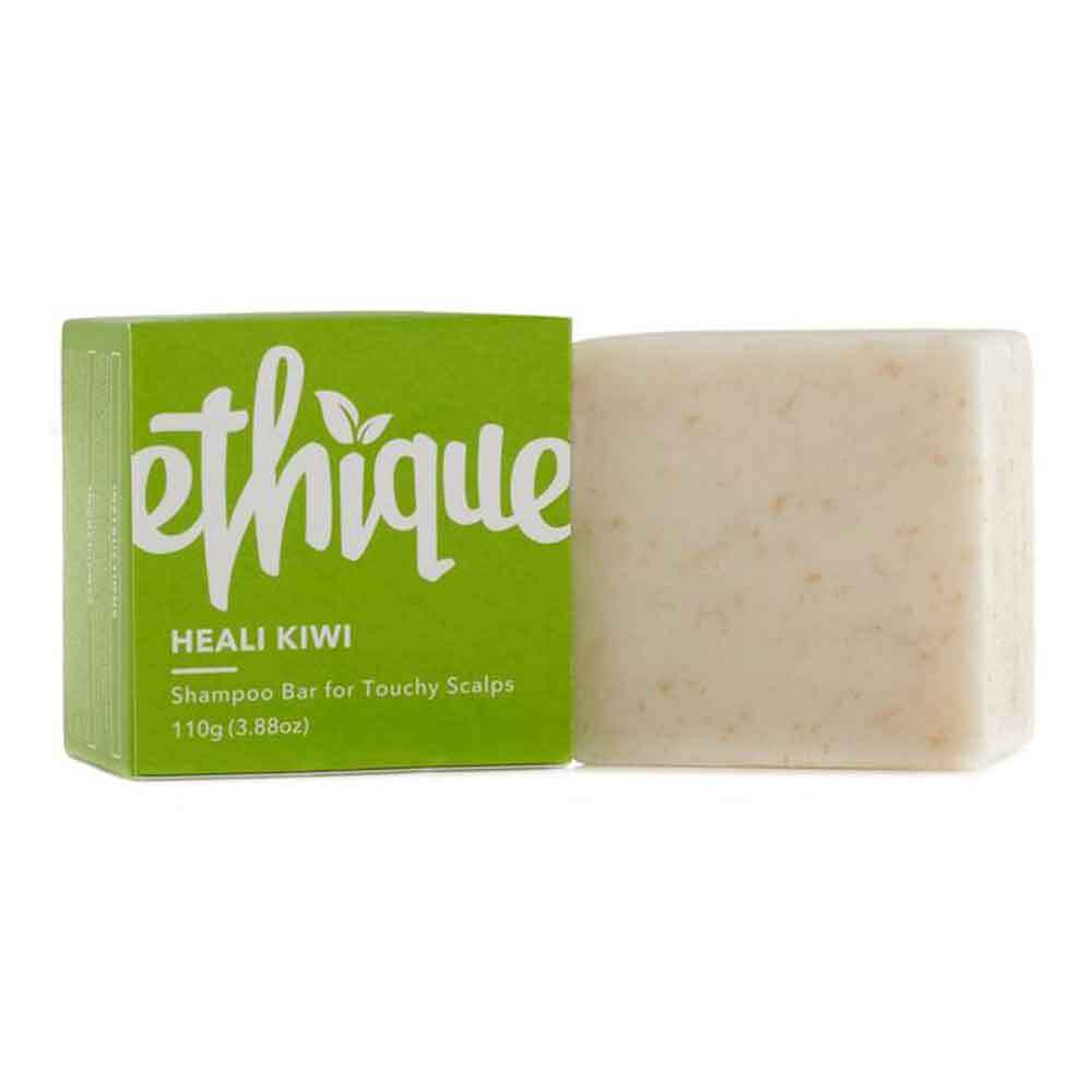 Ethique Shampoo Bar Heali Kiwi - Solid shampoo for touchy scalps (110g) - Goods that Give